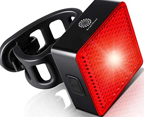 BrightRoad Smart Bike Tail Light USB Rechargeable Ultra Bright 40 Lumens Led Rear Bike Light product image