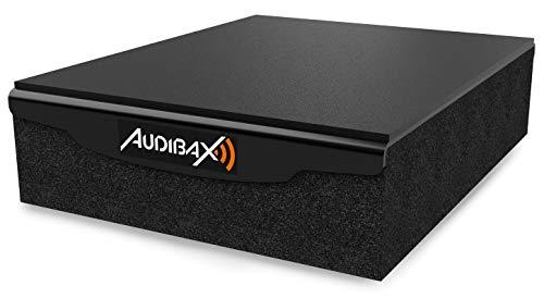 Audibax - Equipo de Sonido - Pad 5 Plus - Aislamiento Antivibración para Monitores Estudio - 6 x 19 x 24,2 cm - Fabricado en Foam de Alta Densidad - Evita Resonancias, Ideal para Estudio de Grabación
