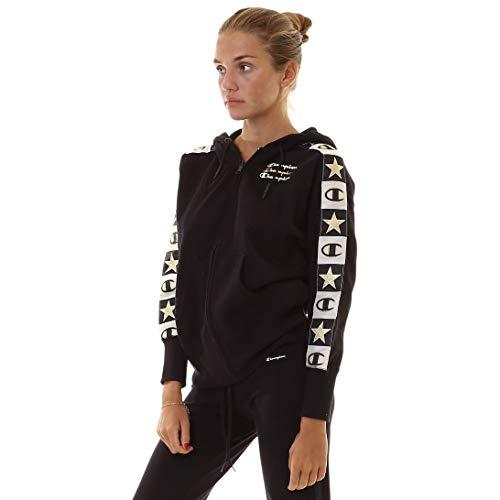 Champion Maxi Hooded Full Zip Sweatshirt, Noir , XS