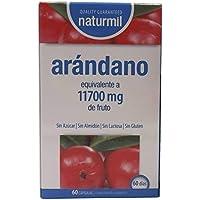 Naturmil Arándano rojo 60 capsulas 11.700 mg + Vitamina C por capsula ALTA CONCENTRACIÓN, previene y alivia las infecciones urinarias, fuente de vitamina C, mejora la salud de tus riñones