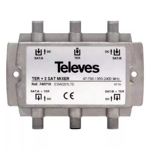 Televes - Mezclador repartidor 3e/2s-f