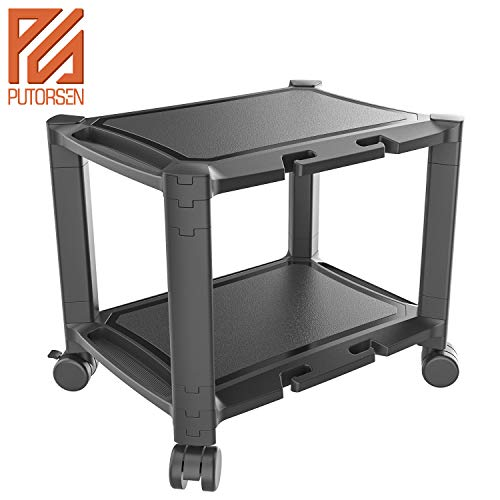 PUTORSEN® Soporte impresora debajo escritorio ruedas