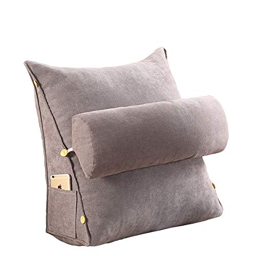 Hiltow Adjustable Triangle Pillow, Sofa Bed Office Chair Rest Cushion Neck Support Pillow Removable Triangle Wedge Cushion Pillow- Best for Sleeping,Reading,Rest or Elevation