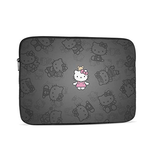 Laptop Bag,He-Llo K-Itty Computer Laptop Case,Personalized Laptop Shoulder Bags For Office Computer,15in/39.5x28x1.5cm