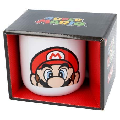 Little Flight Super Mario - Taza de cerámica de 400 ml para bebidas calientes.