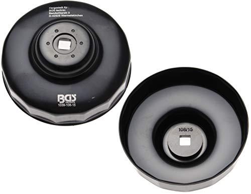 BGS 1039-108-15 | Clé à filtres cloches | 15 pans | Ø 108 mm | pour Volvo Diesel