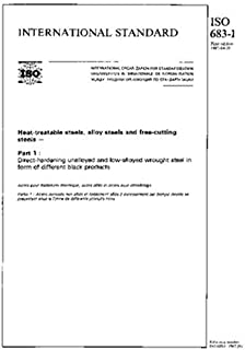 ISO 683-1:1987, Heat-treatable steels, alloy steels and free-cutting steels - Part 1 : Direct-hardening unalloyed and low-alloyed wrought steel in form of different black products