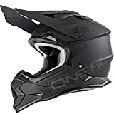 O'NEAL   Motocross-Helm   Kinder   MX Enduro   ABS Schale, Lüftungsöffnungen für optimale Belüftung & Kühlung, erfüllt Sicherheitsnormen DOT & ECE 22.05   2SRS Youth Helmet Flat   Schwarz   Größe M