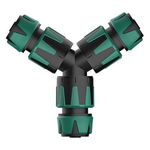 Norjews Abzweig Satz für 13mm (1/2') und 15mm (5/8') Wasserschläuche, Y-Stück Abzweig Verbinder für eine einfache Wasserteilung