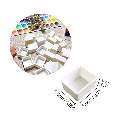 120pcs Empty Half Pans Plastic Paint Kits with Magnetic Square for Watercolor Oils Or Acrylics Paint Travel Tin Case DIY Watercolor Palette Art Drawing