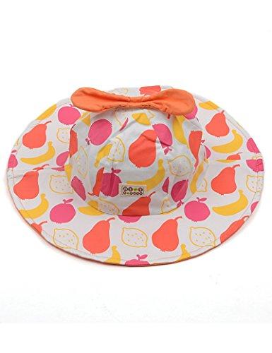 1-2 Ans Coton Printemps bébé Chapeau de Soleil Enfant Les Avant-toits Sunscreen Sun Hat Capuchon du Bassin (Couleur : 2)
