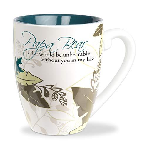 Pavilion Gift Company Teal 20 Oz Tea Cup Coffee Mug Papa Bear, Blue