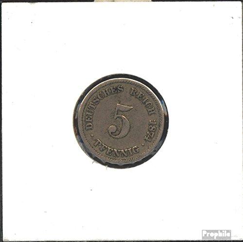 Deutsches Reich Jägernr: 3 1876 J sehr schön Kupfer-Nickel 1876 5 Pfennig Kleiner Reichsadler (Münzen für Sammler)