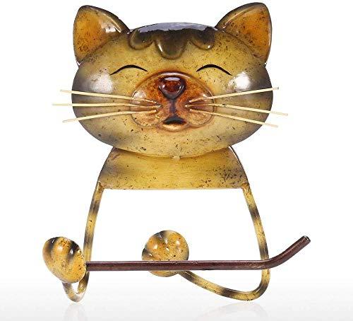Handtuchhalter Katze Küchenrollenhalter Vintage Gusseisen Toilettenpapierhalter Badezimmer