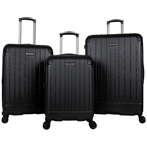 Kenneth Cole Reaction Flying Axis Collection Lightweight Hardside Expandable 8-Wheel Spinner Luggage, Black, 3-Piece Set (20'/24'/28')