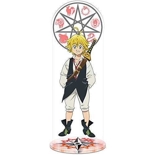 ALTcompluser Figura de anime de The Seven Deadly Sins de pie, patrón de doble cara, figura de pie...