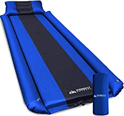 IFORREST Sleeping Pad with Armrest & Pillow - Ultra-Comfortable Self-Inflating Camping Air Mattress - Ideal for Hiking and Backpacking, Cot, Tent, and Hammock!
