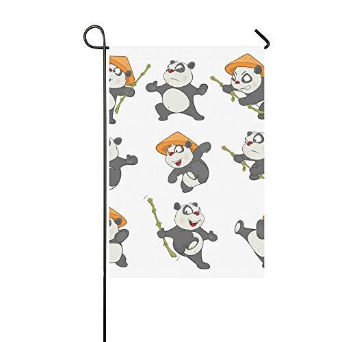 HujuTM Flags Cute Panda Custom Garden Flags Outdoor Flag 12x18 Fashion Flag Without Flagpole