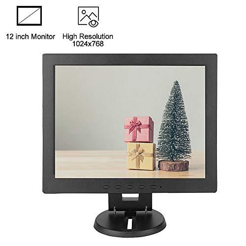 Bewinner Monitor de computadora de 12 Pulgadas Entrada VGA Pantalla TFT LCD de Alta resolución Pantalla de computadora para Monitor CCTV, Monitor de PC o Interior, Relación de Contraste: 700: 1(UE)