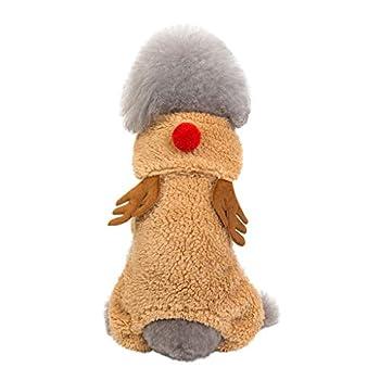 Robe Noel Chat,Nouveau Deguisement de Noel Chat -Taille Ajustable - Cadeau de Noël spécial Les Chats Les Chiots Manteau Noel Cerf de noël Habiller Costume pour Animaux de Compagnie