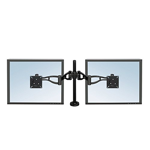 Fellowes Professional Series Depth Adjustable Dual Monitor Arm (8041701), Black