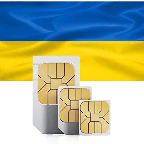 travSIM - Tarjeta SIM Prepago Ucraniana (SIM de Datos para Ucrania) - 1GB de Datos Móviles para Usar en Ucrania Válido por 30 Días - la Tarjeta SIM de Datos Ucraniana Funciona en Más de 50 Países