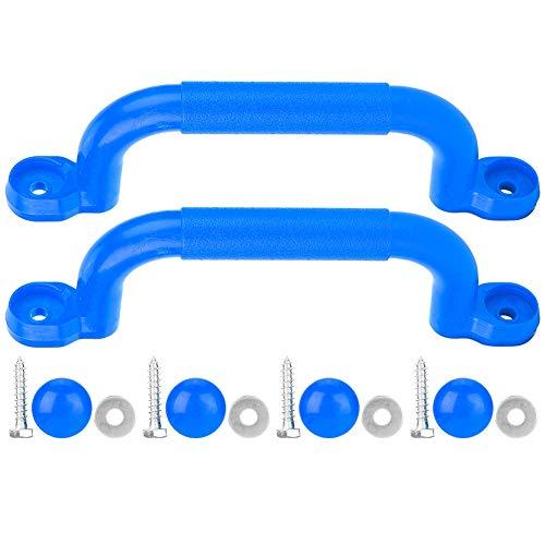 Alomejor Spiel Haltegriffe Kinderspielhaus Sicherheit rutschfeste Haltegriff Schrauben Kits für Baumhaus Klettern Spielzeug Schaukel Zubehör(Blau)