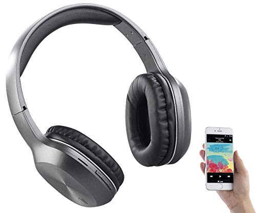 auvisio Kopfhörer MP3: Over-Ear-Headset, Bluetooth, MP3, FM & Auto Connect, microSD bis 64 GB (Radio Kopfhörer)