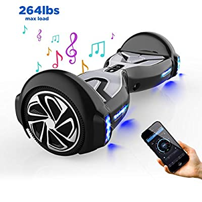 "TOMOLOO Hoverboard with Bluetooth Speaker and LED Light, UL2272 Certified 6.5"" Two Wheels Electric Self Balancing Hover Boards for Kids and Adult…"