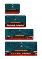 マウスパッド 大型 ゲーミング デスクマット レーザー&光学式マウス対応 デスクマット テープルマット キーボードパッド 超大型 防水 滑り止め (100*50cm,06)