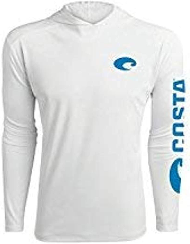 Costa Del Mar Men's Hooded Technical Long Sleeve Shirt