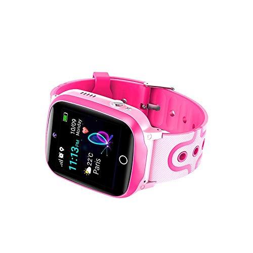 Reloj inteligente digital para niños LPS localización teléfono inteligente con juegos, reloj para niños, función de llamada, podómetro, teléfono para niños, resistente al agua Q13 GPS rosa