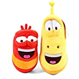 okidg 2 Pcs Insect Stuffed Plush 7 inch Fun Insect Creative Larva Plush Toys Stuffed Doll for Children Larva