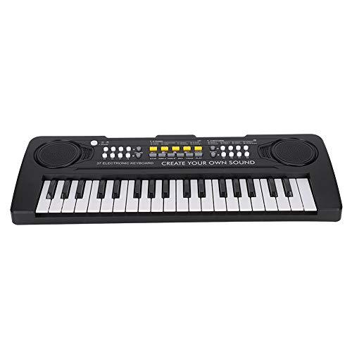 Instrumentos musicales Piano de juguete 37 teclas Piano eléctrico doble Mini control...