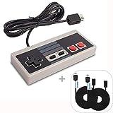 Nintendo Clásica, WADEO Nes Mimi Classic Mando Controlador de Juegos Consolas con Cable de 1,8m y 2 Cables Extensibles de 3M para Nintendo NES Classic Mini Edition