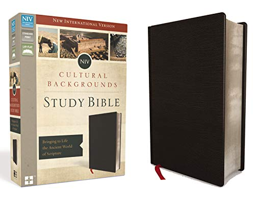 NIV, Cultural Backgrounds Study Bible, Bonded Leather, Black, Red Letter: Bringing to Life the Ancient World of Scripture