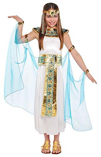 Das Kostümland Cleopatra Nilkönigin Kostüm für Mädchen - Weiß Türkis - 6 bis 8 Jahre