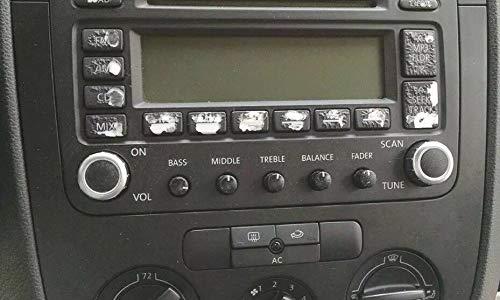 2005-09 Fits VW Jetta Passat Golf Radio Button Decal Sticker-Best Repair Set ON Amazon!!
