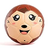 YANYODO Mini Soccer Ball for Kids, Toddlers and Babies Soft Touch Balls Shipped Deflated Size 3