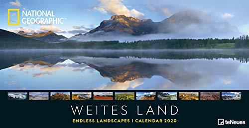 National Geographic Weites Land 2020 - Posterkalender - 64x33cm - Landschaftskalender - atemberaubende Fotografie