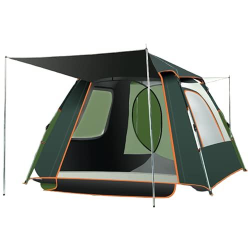 LJFLI Carpa para Camping 5-7 Personas Engrosamiento portátil de Picnic para Acampar Ventana emergente Completamente automática