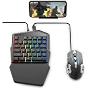 IFYOO Gaming Keyboard and Mouse Combo Set for Mobile Games Controller, Compatible with iPhone/iPad(Not Support 13.4 or Above) Android Phone/Table, for PUBG Mobile/Fortnitee Mobile/Call of Duty