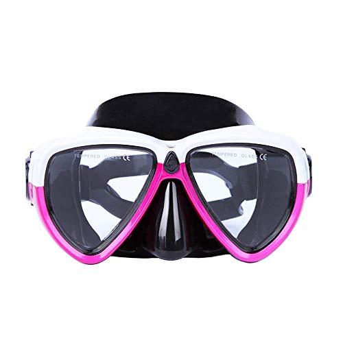 1yess Snorkeling Maschera Subacquea Set Silicone Vetro con Staccabile Montaggio Telecamera Subacquea Scuba Snorkel Occhialini da Nuoto Multicolore Opzionale (Colore: Nero, Size: Un Formato)