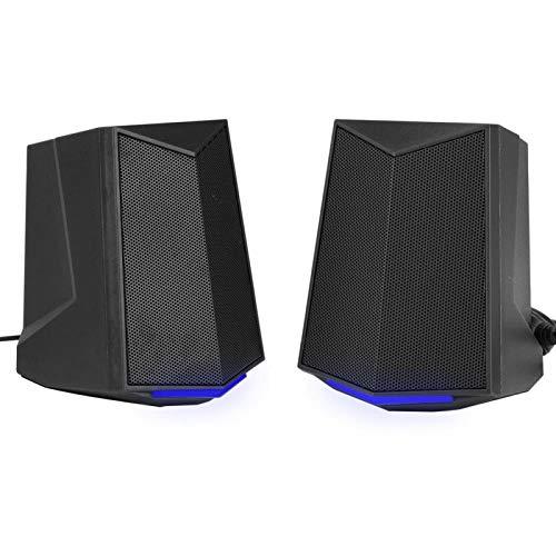 SADA V-115 Mini tragbarer Lautsprecher Aktiver Lautsprecher 2.0 Soundkanal 3W Ausgangsleistung USB(Schwarz)