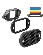 Selens MN-BK 2 en 1 Rejilla Universal de Panal con 7 geles de Color Kit para cámara Flash Speedlight fotografía Estudio