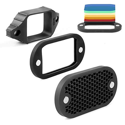 Selens MN-BK 2 en 1 Universal Rejilla de Panal (Honeycomb Grid) con 7 Color Geles Kit Set para Flash de Cámara Speedlight Fotografía Estudio Fotográfico