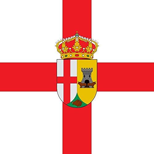 magFlags Bandera Large Valdecaballeros Badajoz Bandera Cuadrada   1.35m²   120x120cm