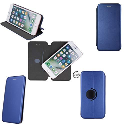 Tasche Handyhülle für Blaupunkt SL02 SL 01 SL 04 SL05 Flip Hülle Klapp Etui Buchtasche Schutzhülle Standfunktion aufstellbar, blau