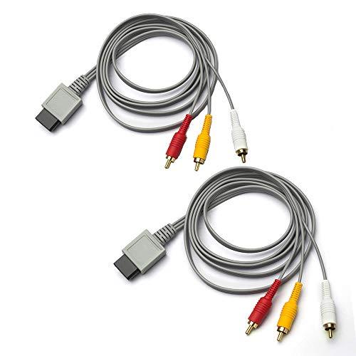 TENINYU 2-Pack AV Cable for Wii/Wii U, 6 FT...
