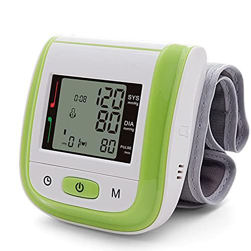 Soglen Tensiómetro de Brazo Digital Tensiómetro Aparato para medir la Tension Arterial Brazo Pantalla de arritmia para una medición precisa de la tensión Arterial y del Pulso,Verde